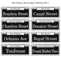 New Orleans Historic Street Signs Collection