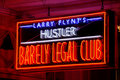 New Orleans Hustler Barely Legal Club Sign Royalty Free Stock Images