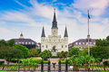 New Orleans at Jackson Square Royalty Free Stock Photo