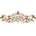 New Orleans Joie de Vivre Joy of Living Fleur de Lis Design Royalty Free Stock Photo
