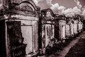 New orleans lafayette cemetery gate above ground tombs Royalty Free Stock Photo