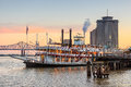 New Orleans paddle steamer in Mississippi river in New Orleans Royalty Free Stock Photo