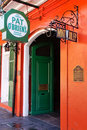 New Orleans Pat OBriens Bar Open Door Royalty Free Stock Image