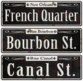 New Orleans Rustic Vintage Street Signs Retro Royalty Free Stock Photo