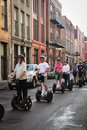 New Orleans - Segway tourists Royalty Free Stock Photo