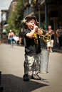 New Orleans - Street Musician Stock Photos