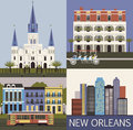 New orleans vector louisiana usa Royalty Free Stock Photos