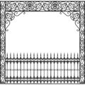 New Orleans wrought iron balcony Royalty Free Stock Photo