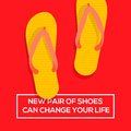 New pair of shoes can change your life concept choices a vector eps illustration Royalty Free Stock Image