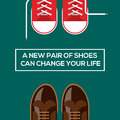 New pair of shoes can change your life concept choices a vector eps illustration Royalty Free Stock Photos