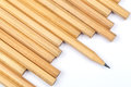 New pencil with one sharpen heap of Royalty Free Stock Images