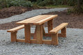 New picnic Bench in park Stock Images