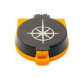 New plastic compass isolated on white background Royalty Free Stock Photo