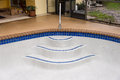 New pool stair detail Royalty Free Stock Photo