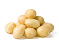 New potato on white background close up with clipping path Royalty Free Stock Images