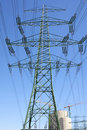 New Power Pole Stock Photography
