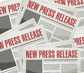 New press release illustration design over a newspaper background Royalty Free Stock Photography
