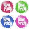 New price sticker set Royalty Free Stock Photos