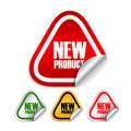 New product labels Stock Image