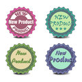 New product stickers set of four with the text Royalty Free Stock Photos