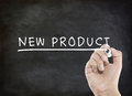 New product word on blackboard Royalty Free Stock Images