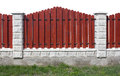New red fence Royalty Free Stock Photo