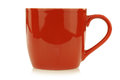 New red mug white background Stock Images