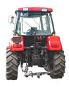 New red powerful tractor isolated over white Royalty Free Stock Photo