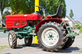 New Red Tractor Royalty Free Stock Photo