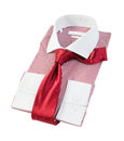 The new red and white striped shirt Royalty Free Stock Images