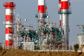 New refinery and powerplant Royalty Free Stock Photo