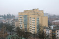 New residential building among constructions of Soviet Union times Royalty Free Stock Photo