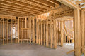 New residential construction framing Royalty Free Stock Photo