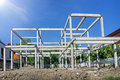 New residential construction home concrete framing
