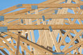 New residential construction home framing Royalty Free Stock Photo