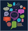 The new retro speech bubbles signs collection vector illustration Royalty Free Stock Images