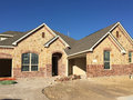 New rock  house construction in suburban Royalty Free Stock Photo