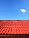 New roof of sheet metal Royalty Free Stock Photo