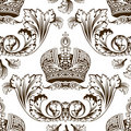 New seamless decor imperial ornament Royalty Free Stock Images