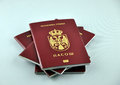 New Serbian passport Royalty Free Stock Photo