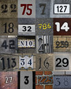 New set of house numbers Royalty Free Stock Image