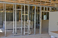 New single family home interior under construction Stock Photo