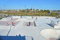 A new skate park opens the local council in santa pola alicante spain Royalty Free Stock Image