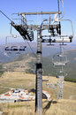 New ski lift under construction is in central apennines Stock Images
