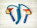 New skipping rope, healthy lifestyle Royalty Free Stock Photo