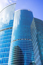 New skyscrapers business centre in moscow city