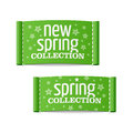 New spring collection clothing labels Royalty Free Stock Photos