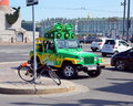 New sprite saint petersburg russia july promotion on vasilevsky island in st petersburg Stock Photos