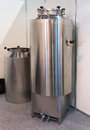 New stainless steel tank of beer production Royalty Free Stock Photo