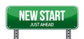New Start Street Sign Stock Image
